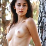 Naked in nature nudist model